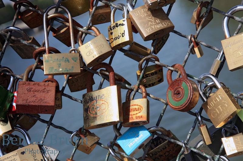 Paris: Locks on bridge 2 July 2012