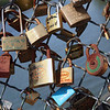 Paris: Locks on bridge 2 July 2012