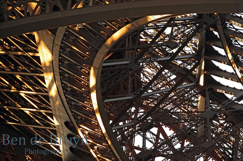 Paris: Eiffel Tower close up 2 July 2012