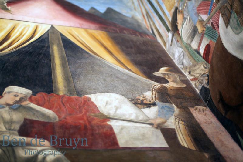 2016 G July  Arezzo San Francesco church Piero della Francesco muriel 4