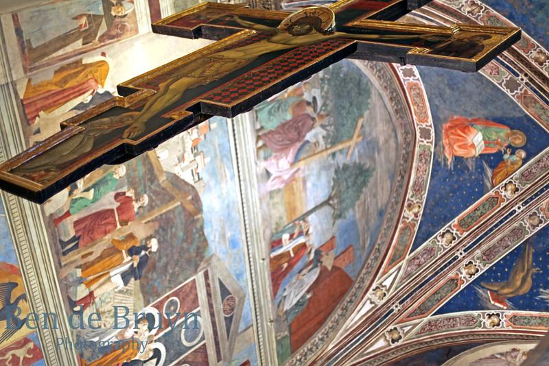 2016 G July  Arezzo San Francesco church Piero della Francesco muriel 6
