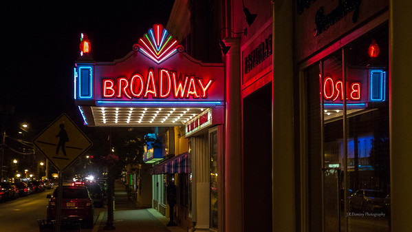 The Broadway Theater in Pitman at night