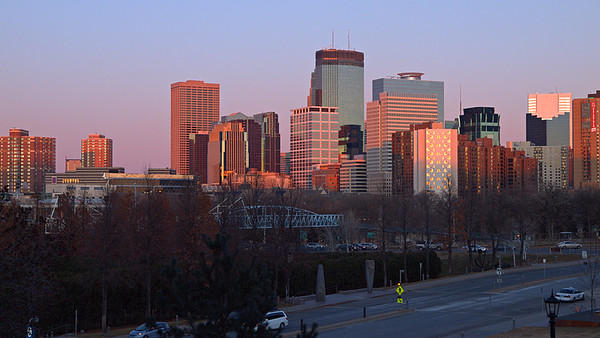 Sunset on Minneapolis