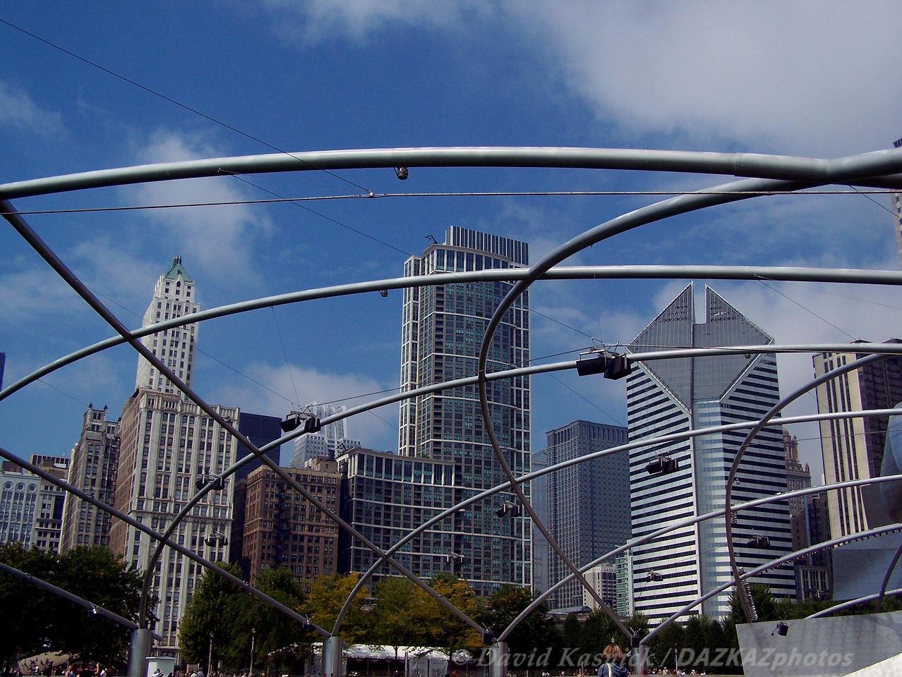 Pritzker Pavillion Skyline - Chicago, IL