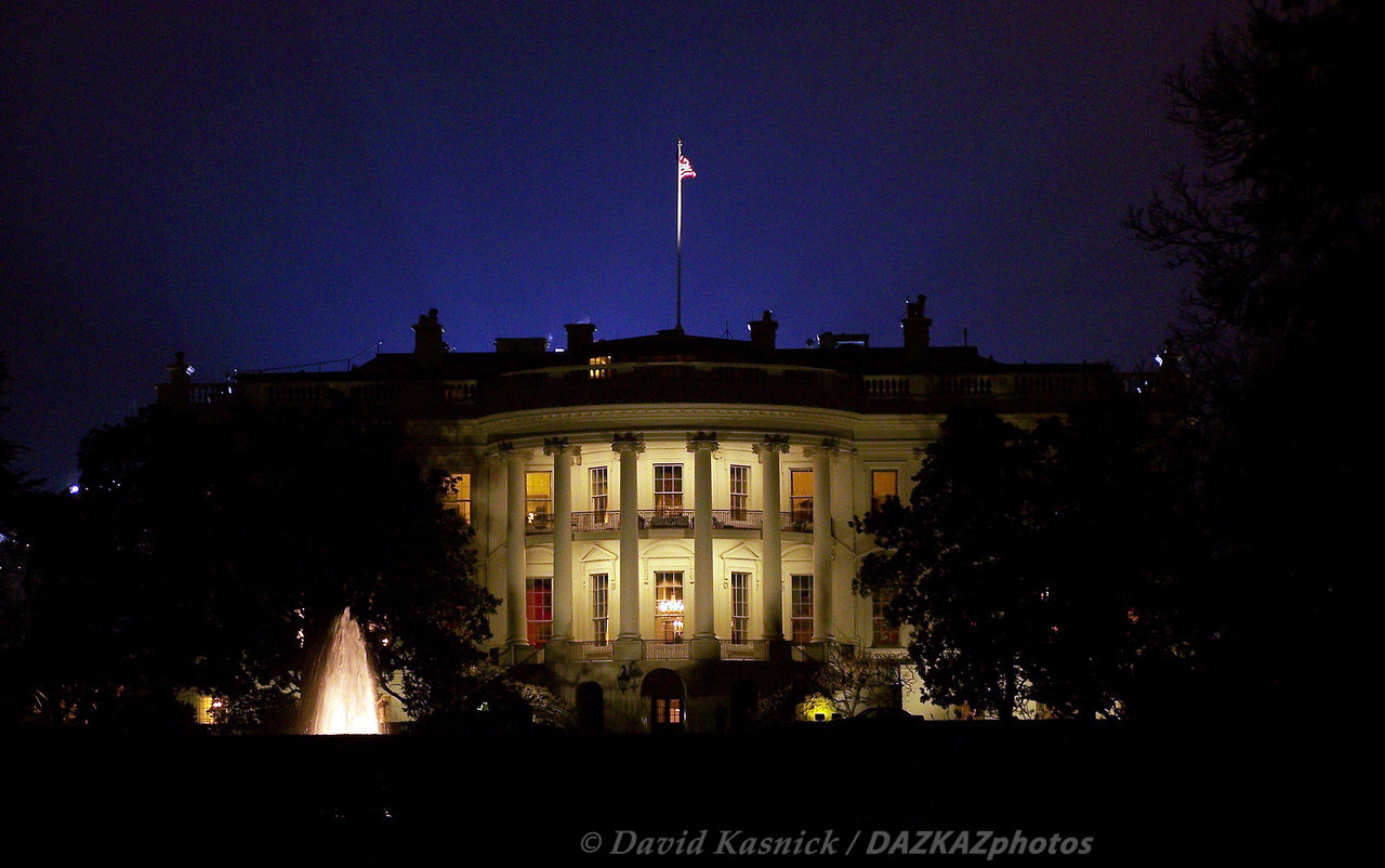 White House At Night - Wash DC