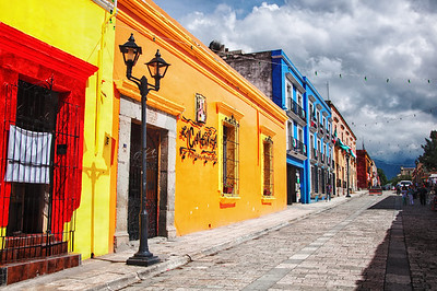 Colors on a street in Oaxaca, Mexico