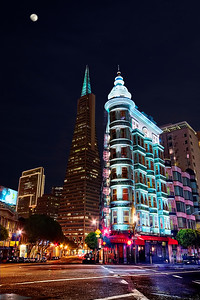 Columbus Tower & the Trans America Pyramid in San Francisco - © Simpson Brothers Photography