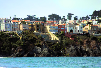 Cliff side houses from Presidio beach. - © Simpson Brothers Photography