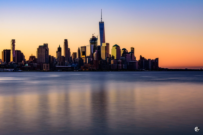 Lower Manhattan Skyline at Dawn