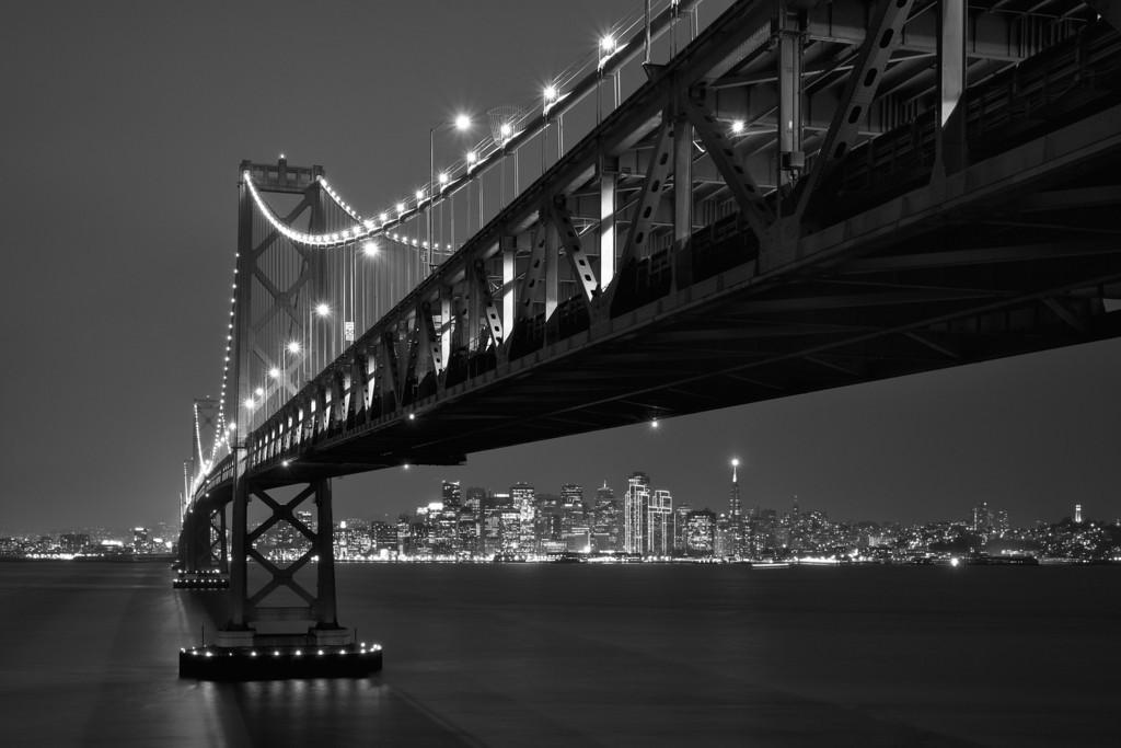San Francisco's holiday lights, from Yerba Buena Island