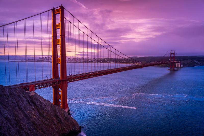 Golden Gate, Purple Sunrise