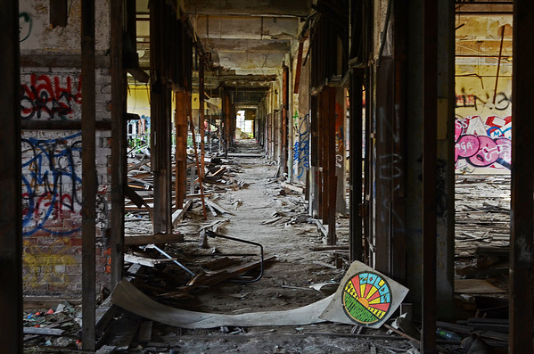 Inside of Packard plant