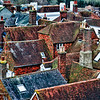 Abstract rooftops seen from castle