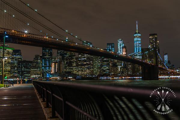 Railing under the Brooklyn Bridge