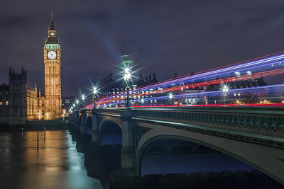 Traffic over Westminster Bridge