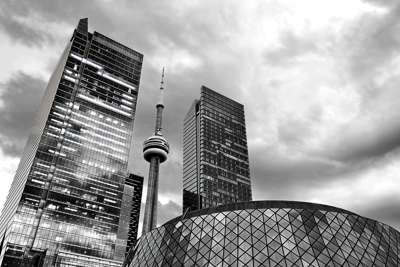 Toronto downtown attitude<br /> <br /> BW conversion with Topaz BW
