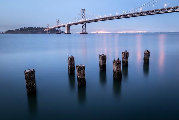 Oakland Bay Bridge at Blue Hour