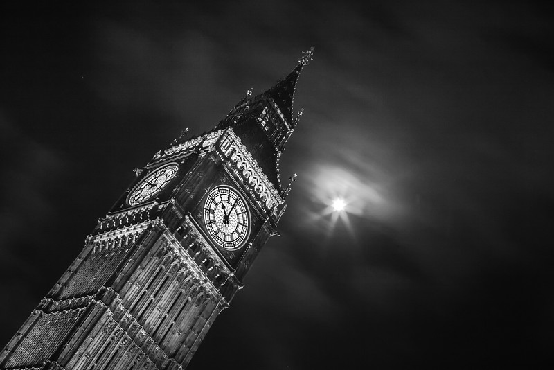 Big Ben by Moonlight