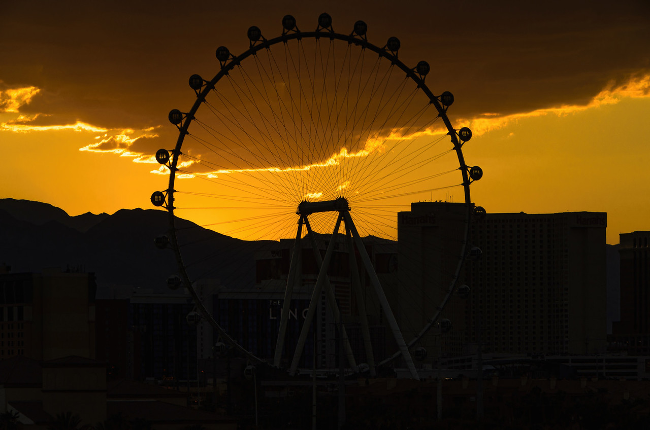 The High Roller at the Linq. Las Vegas Strip, NV, USA