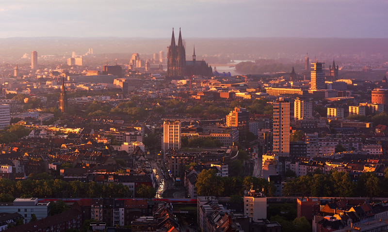 Sunset above Cologne