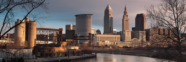 Cleveland Skyline from the Industrial Valley