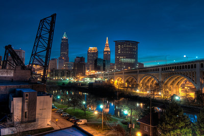 Over the Cuyahoga Before Sunrise