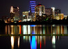 """Austin Texas - Night Skyline Reflection <BR><BR>Want to buy a print of this image?  Click <a href=""""http://www.langfordphotography.com/For-Sale/Cityscapes/295655_R5p5KF"""">Here</a>!"""