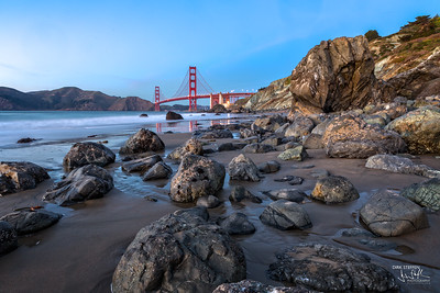 Golden Gate Bridge from Marshall's Beach
