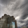 The Silver Legacy, Reno - Nevada.<br /> <br /> An early morning storm sweeps in over the fortress-like resort of the Silver Legacy. It appeared as if the brooding tower itself was creating the clouds, sending them out into the dull sky.