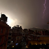 Lightning Over Kathmandu - Nepal<br /> <br /> An evening lighting storm over the Thamel district of Kathmandu. Electrical cloudbursts such as this are a frequent occurrence in the pre-monsoon spring months.