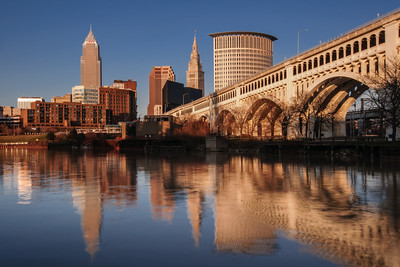 Cleveland from the River Golden Hour