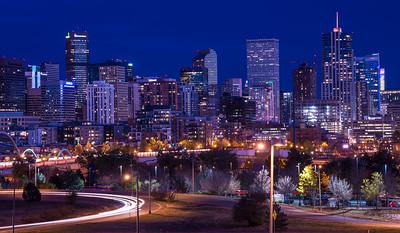 Denver Skyline at Sunset - Colorado