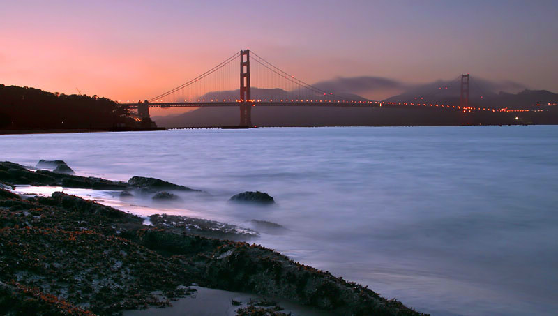 """San Francisco - Golden Gate Bridge Sunset <BR><BR>Want to buy a print of this image?  Click <a href=""""http://www.langfordphotography.com/For-Sale/Cityscapes/295655_R5p5KF"""">Here</a>!"""
