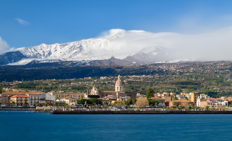 Volcano Etna as seen from Riposto, Sicily