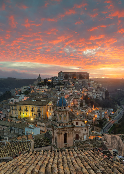 Sunrise in Ragusa Ibla, Sicily