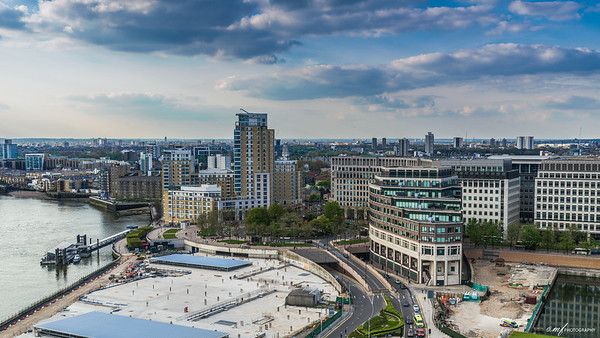 A view of London from Canary Wharf