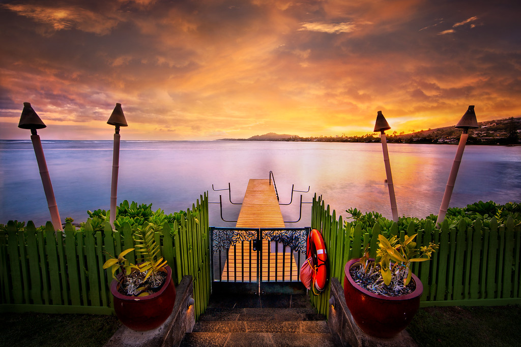 Tiki Sunset Over The Pier