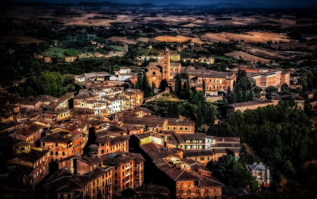 Overlooking Siena