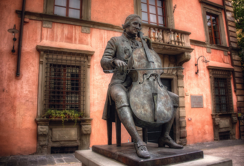 <h2>Luigi Boccherini</h2>Lucca, Italy I didn't know who Luigi was until I looked it up... And here's why I officially love him now (from Wikipedia):  <i>In 1761 Boccherini went to Madrid, where he was employed by Infante Luis Antonio of Spain, younger brother of King Charles III. There he flourished under royal patronage, until one day when the King expressed his disapproval at a passage in a new trio, and ordered Boccherini to change it. The composer, no doubt irritated with this intrusion into his art, doubled the passage instead, leading to his immediate dismissal.</i>  Aaaahahahahaa!! A rebel of a man after my own heart in 1761. It goes on to say he was gainfully employed after that and went on to write brilliant works after that.  In case you were worried about his well being.   Luigi kicked butt.  So does Lucca.   ©Karen Hutton - Creative Commons (CC BY-NC 3.0)
