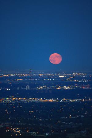 Blood Moon Over Denver