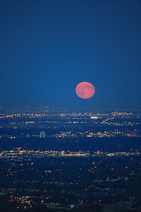 Blood Moon Over Denver