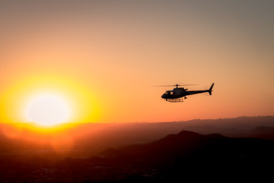 Helo at Sunset