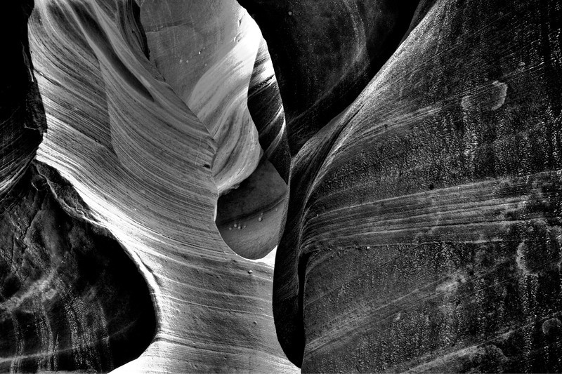 Abstract walls in Antelope Canyon.  This is the gold  award winner of B&W magazine's single image 2012 contest