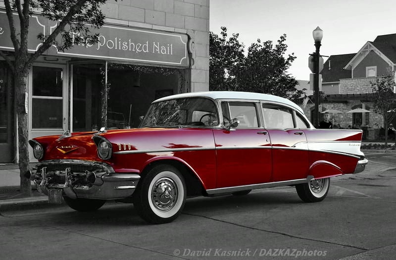 Chevrolet Bel Air 1957 Red  1