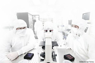 Semiconductor fabrication plant cleanroom technicians