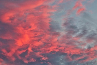 Dominick Lofino Park, Beavercreek, Ohio  These alto cumulus clouds painted the sky red.  © 2018 Ryan L. Taylor Photography. All Rights Reserved.