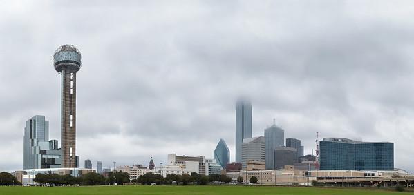 Dallas, Texas Foggy Skyline