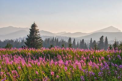 Smoky mountains in the Alaska range.