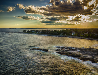 Pemaquid Point Drone View