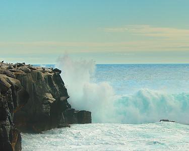 Crashing Waves Galapagos